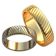 Авторские обручальные кольца Rosalia
