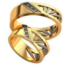 Авторские обручальные кольца Ameno