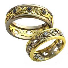 Авторские обручальные кольца Atenas
