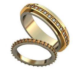 Авторские обручальные кольца Virginia