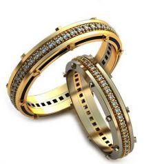 Авторские обручальные кольца Magdalena