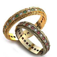 Дизайнерские обручальные кольца Margaret
