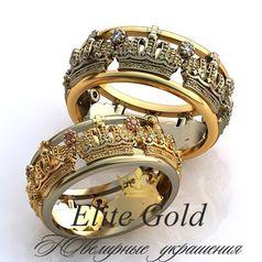 обручальные кольца с коронами