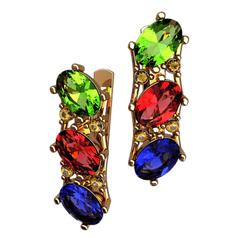серьги Enola с разноцветными камнями