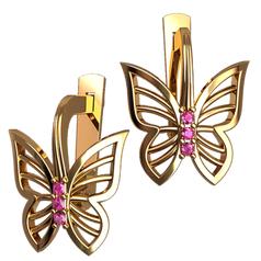 женские серьги в форме бабочек