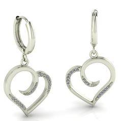 женские серьги в форме сердца