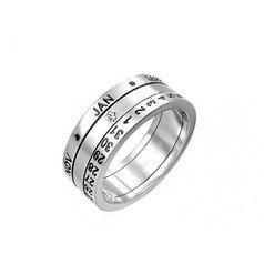 кольцо с датой рождения