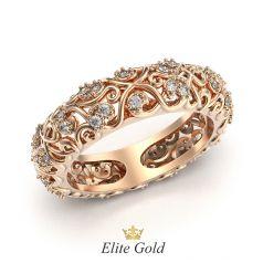 кольцо женское с узорами