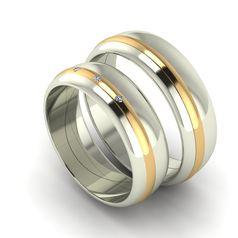 обручальные кольца классические с полоской