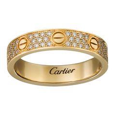 Кольцо в стиле Cartier Love Small в лимонном золоте
