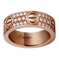 Кольцо в стиле Cartier Love в красном золоте
