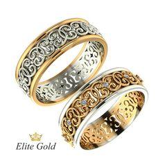 обручальные кольца Malena в белом и красном золоте