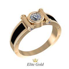 Кольцо Vincitore в красном золоте