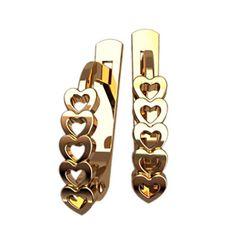 женские серьги в виде сердечек