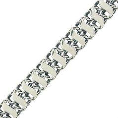 цепь с плетением двойной бисмарк с напайками