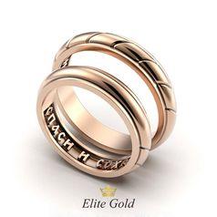 кольца Спаси и Сохрани в красном золоте
