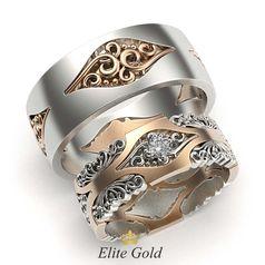 кольца Fairytale в красном и белом золоте
