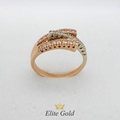 дизайнерское кольцо с камнями