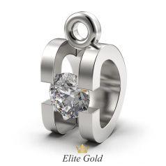 кулон в белом золоте под бриллиант