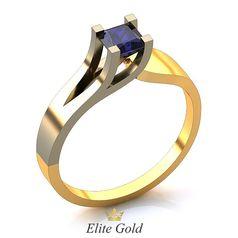 кольцо для помолвки с сапфиром фото
