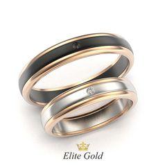обручальные кольца в комбинированном золоте