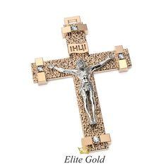 мужской рельефный крест