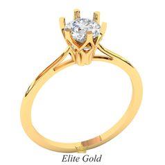 кольцо для помолвки с крупным камнем в центре