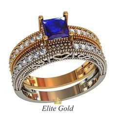 набор колец невесты Vanessa Bridal Set в 2 цветах золота