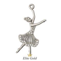 золотая подвеска балерина