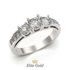 кольцо для помолвки в белом золоте