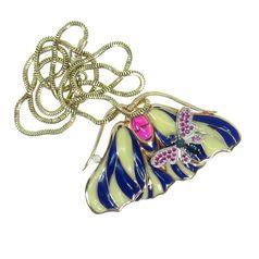 подвеска в форме бабочки с эмалью