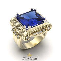 кольцо Imperial Glory II в лимонном и белом золоте