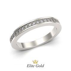 кольцо Sachet в белом золоте