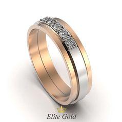 кольцо Union в красном и белом золоте