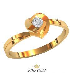 кольцо Sage с фигурным кастом и тонким ободком