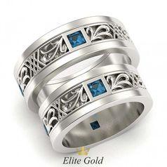 кольца Incantato с голубыми камнями в белом золоте