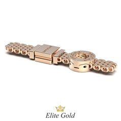 браслет Patrice плетеный в красном золоте