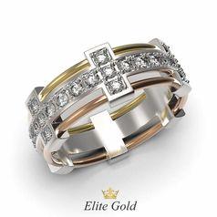 кольцо Eternal Love в 3 цветах золота