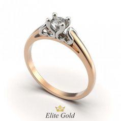 винтажное кольцо Fiona в красном золоте с белым кастом