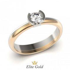 кольцо для помолвки Harlow в красном и белом золоте