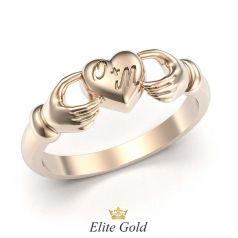 кольцо Spell в красном золоте