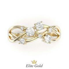 Авторское тонкое кольцо Libra в лимонном золоте