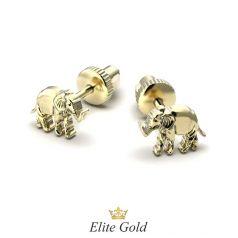 серьги Elephante в лимонном золоте