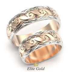 кольца Espen в красном золоте с родированием