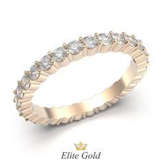 кольцо Harper в красном золоте с белыми камнями