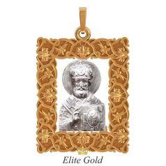 золотаяладанка с образом Святого Николая