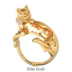 золотое кольцо пантера