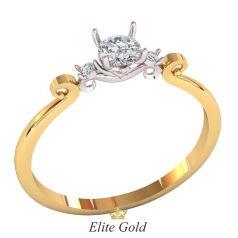 кольцо Revelin в красном и белом золоте 585
