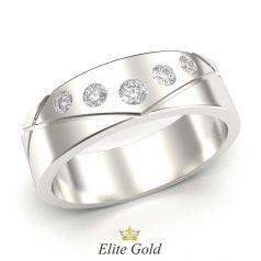 кольцо Lifelines в белом золоте