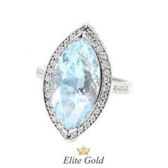 кольцо Ice Princess в белом золоте с топазом